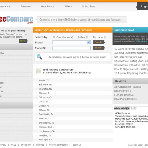 Difficult Design Task: New homepage for FurnaceCompare.com