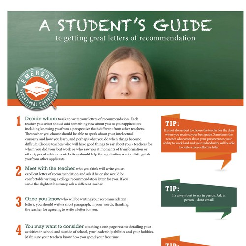 Create A Student's Guide to Getting Great Letters of Recommendation ...