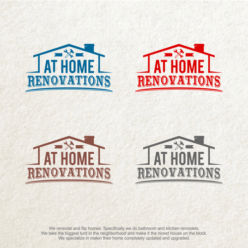 Create A Logo For At Home Renovations A Kitchen And Bath Remodeling Company Logo Social Media Pack Contest 99designs