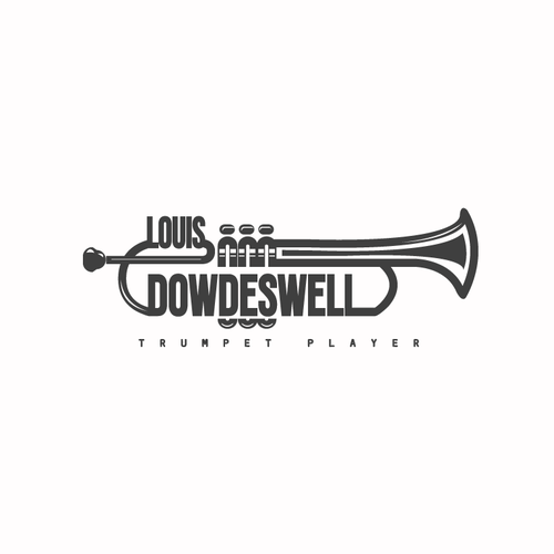 Designing a logo for Louis Dowdeswell (trumpet player