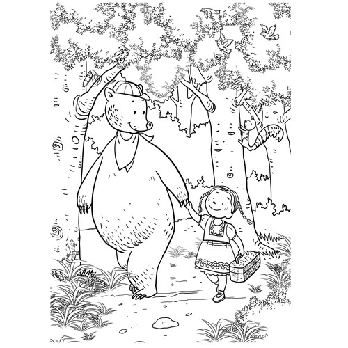 Create Fun Illustrations for Kids Coloring Products