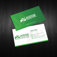 Professional business card for modern accounting firm ...