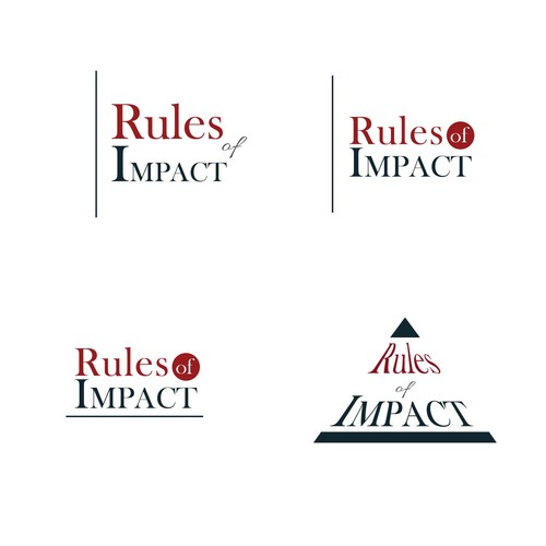 Create a logo with IMPACT for a small business called