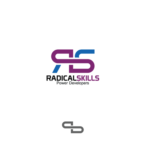 Logo for innovative online developer training startup