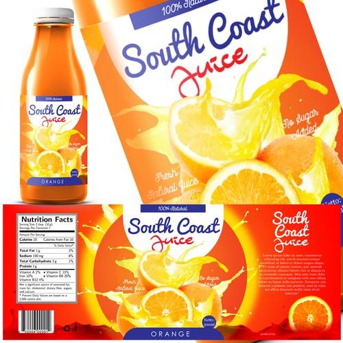 Fresh Juice Label | Product label contest