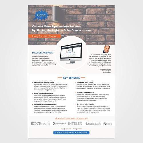 SaaS Product One Pager PDF Brochure Other Design Contest