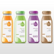 cool juice bottle label design