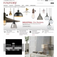 Foundry Lighting homepage slider for Industrial Pendants ...