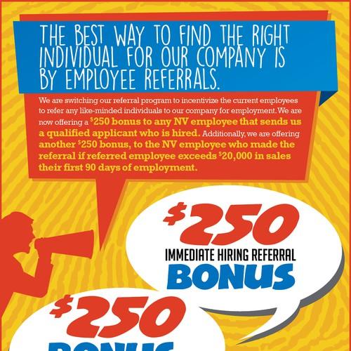 referral bonus flyers