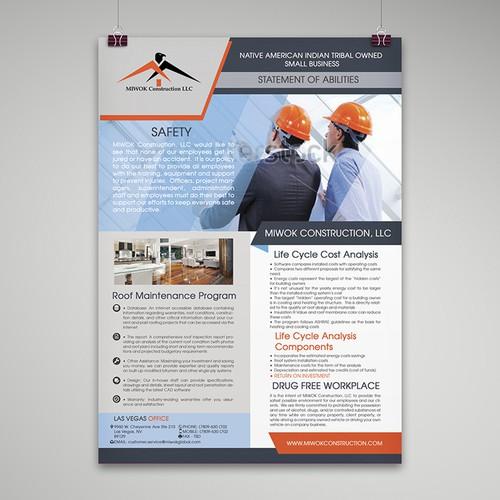 Construction Company Capability Statement Design
