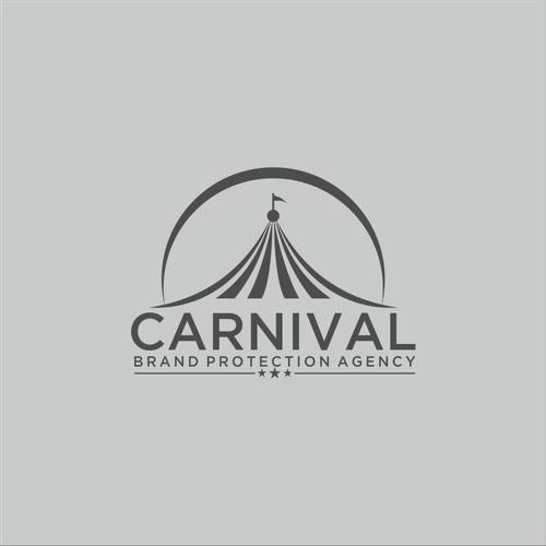 Design a carnival/circus theme logo for a brand protection