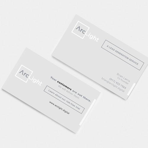 Business card design for boutique digital marketing firm