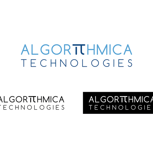 Create a modern, stand-out logo for algorithmica