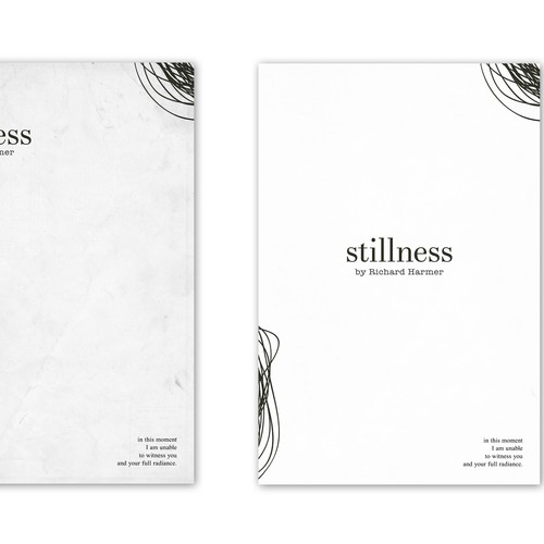 Create a minimalist book cover design for a debut poetry