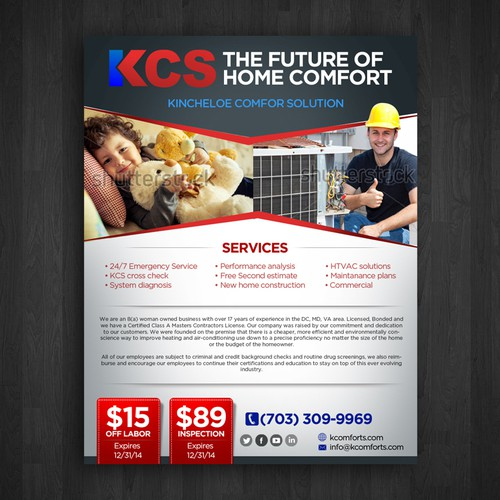 Create A Promotional Flyer For A New Heating And Air