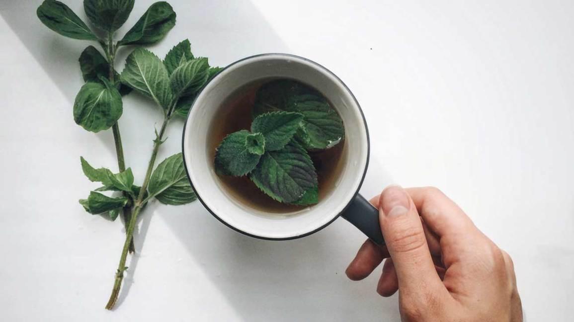 Mint Tea and Leaves