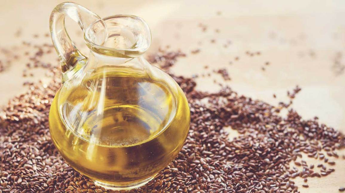Pitcher of Flaxseed Oil