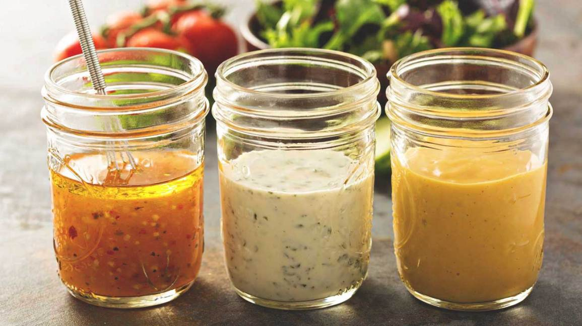 Three Salad Dressings