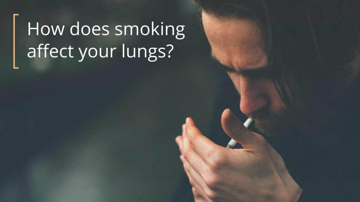 smoker lung vs. healthy lung