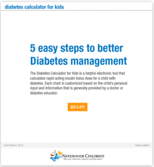 Diabetes Math Made Easy Online Calculator