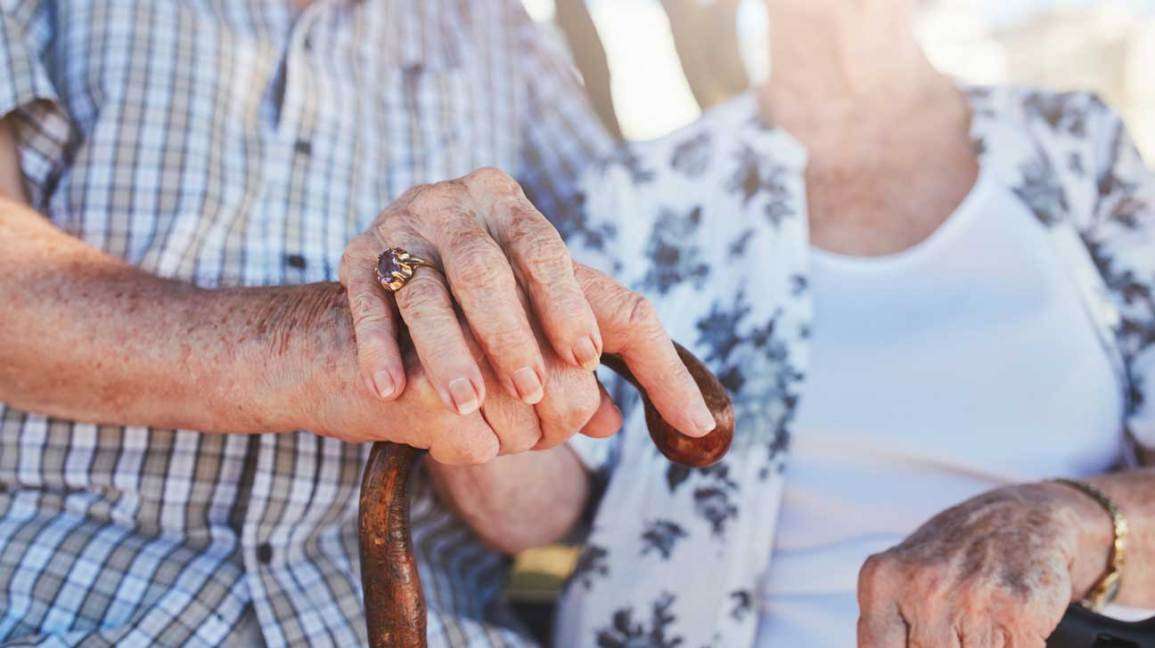 Hands of Elderly Couple