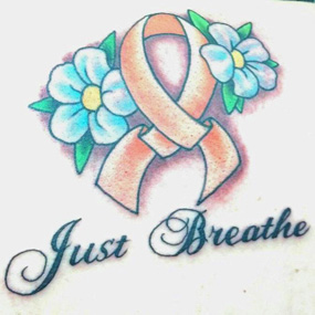 5d46b0f5a MS Tattoo. Although I was devastated by my diagnosis, I wasn't going to let  it take over my life. A tattoo shop was doing breast cancer ribbons, ...