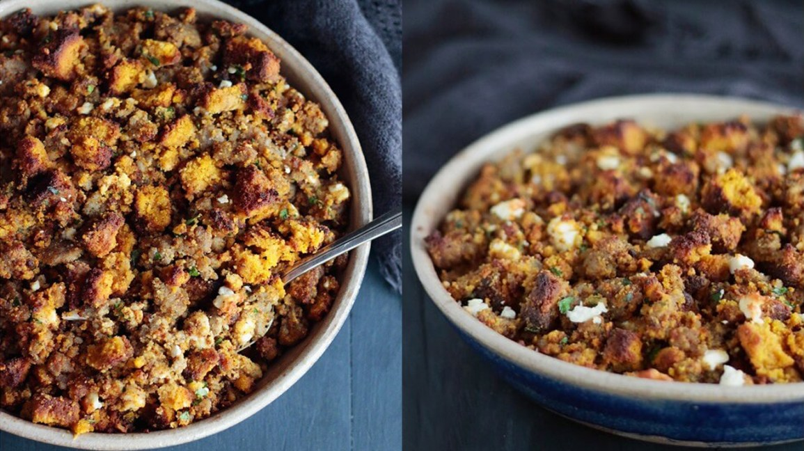 pumpkin bread stuffing