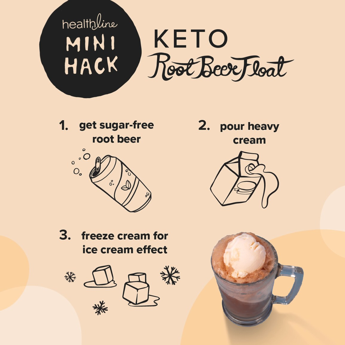 Keto Root Beer Float