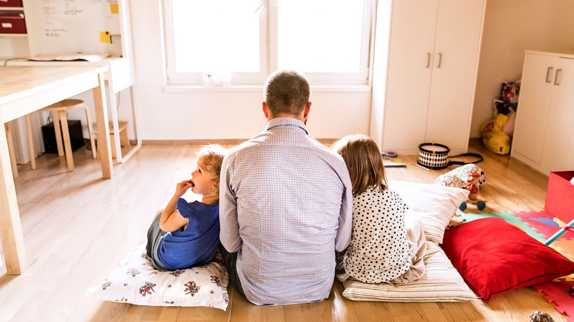 Image result for parent with kid in the early morning