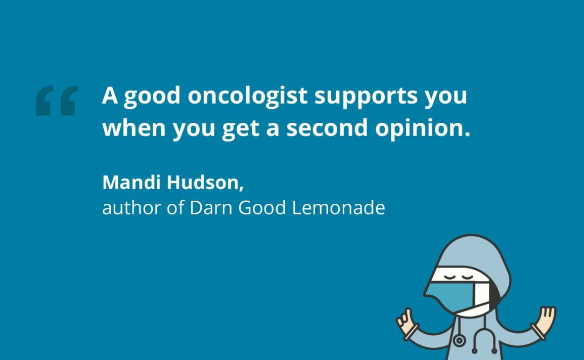 Mandi Hudson, an author shows his support for the second opinion