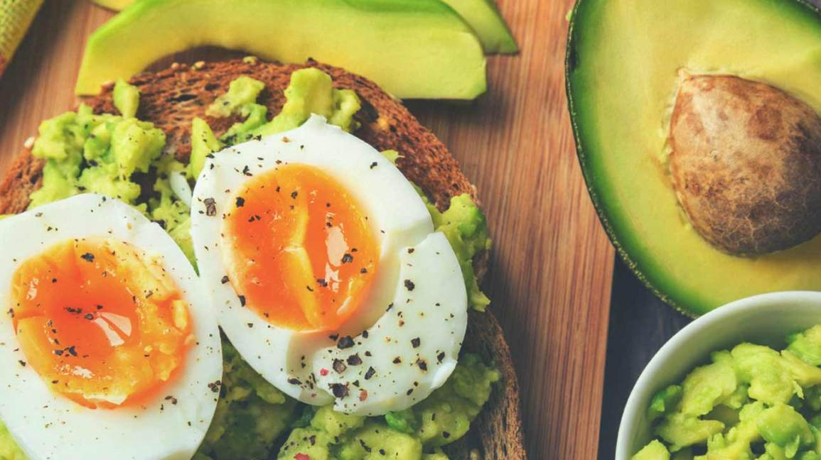 avocado and eggs