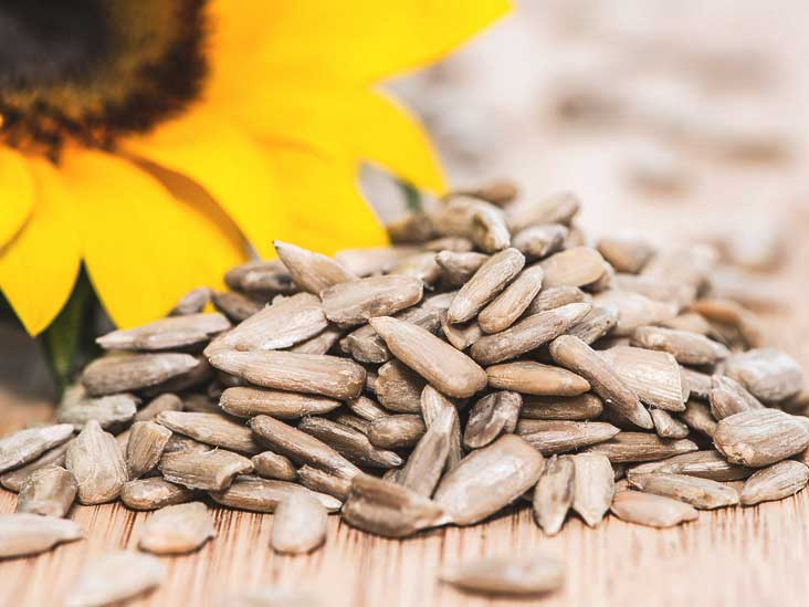 Show me a picture of a sunflower seed