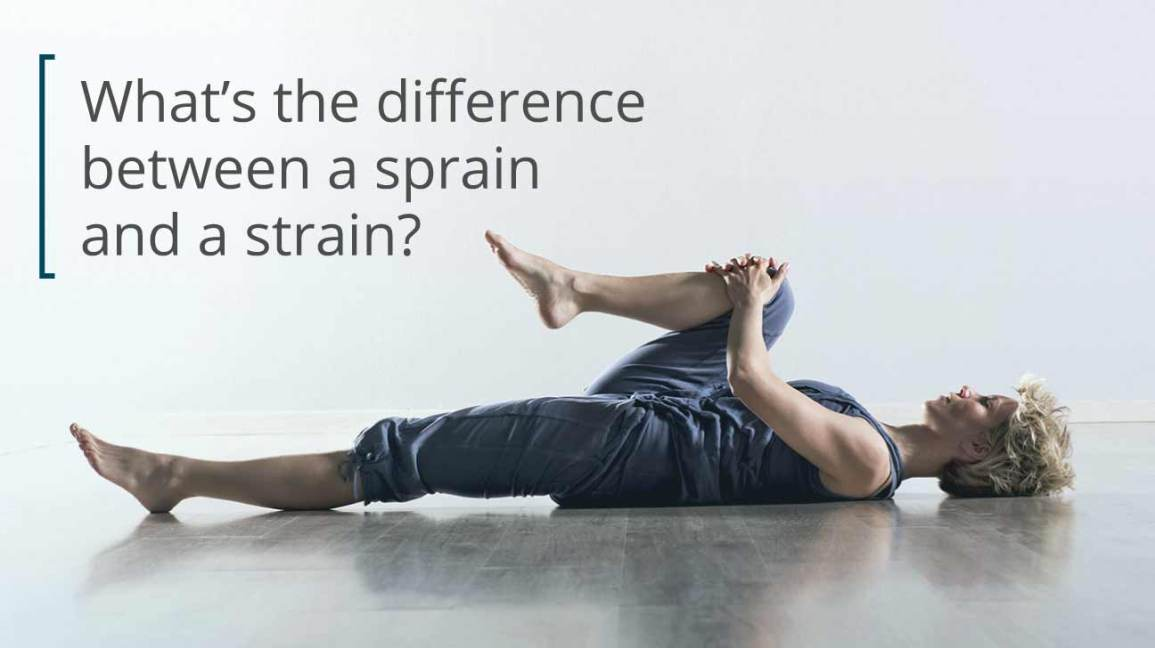 Sprain vs  Strain: What's the Difference?
