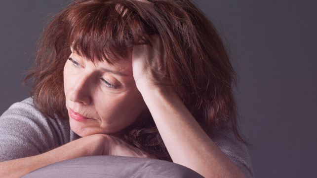 woman experiencing post-menopausal bleeding