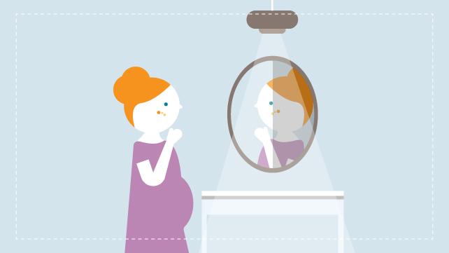 wanita hamil melihat jerawat