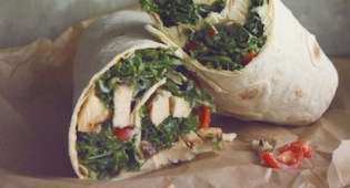 roasted chicken wraps