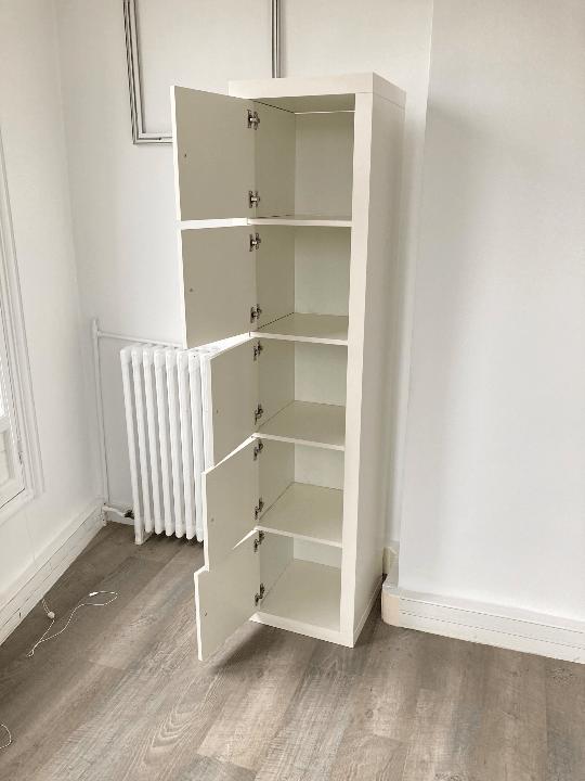 meuble de rangement kallax ikea 5 cases