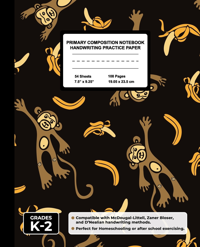 medium resolution of Primary Composition Notebook Handwriting Practice Paper: Happy Monkey Blank  Writing Sheets for Kindergarten to 2nd Grade Elementary Students