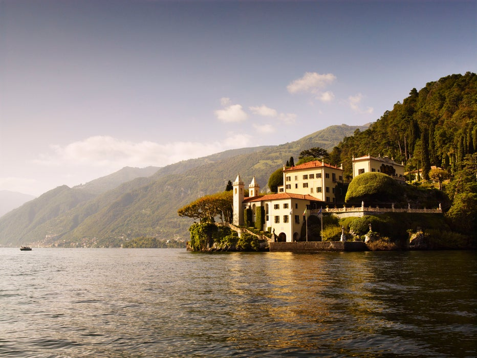 Villa del Balbianello, on shores of Lake Como.