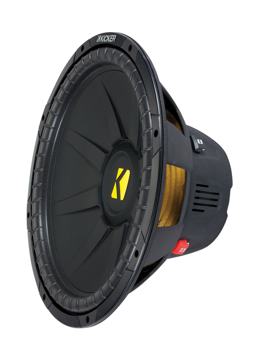 hight resolution of kicker cwd15 compd 15 inch dual voice coil 4 ohm subwoofer 1200w power peak 600 watts rms rip resistant quad venting sub speaker 40cwd154