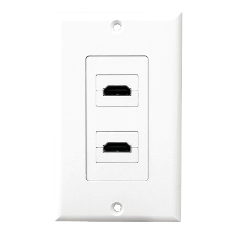 Pyle Home Audio PHDMIW2 Dual HDMI White Video Wall Plate