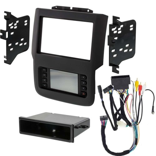 small resolution of details about metra 99 6527b 2013 2019 fits dodge ram single double din radio stereo dash kit