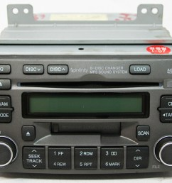 hyundai azera 2006 2008 factory stereo mp3 6 disc changer cd player oem radio [ 1000 x 800 Pixel ]