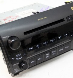 2008 2009 toyota sequoia factory jbl 6 disc changer cd player oem radio r 2510 [ 1000 x 806 Pixel ]