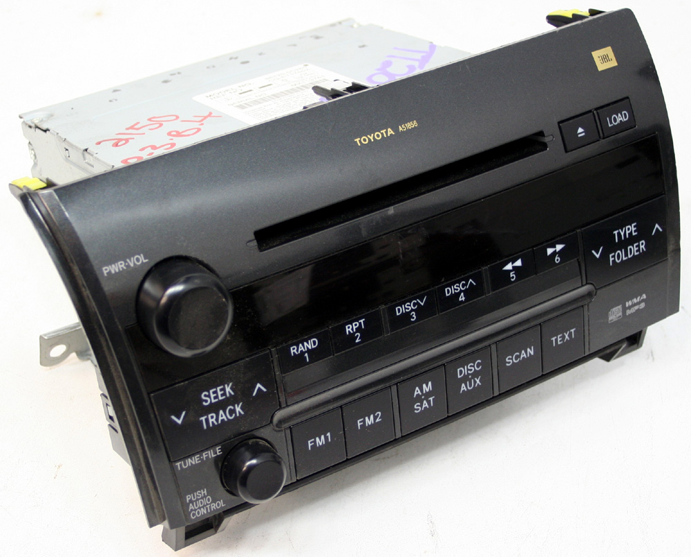 medium resolution of 2008 2009 toyota sequoia factory jbl 6 disc changer cd player oem radio r 2510