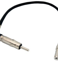 chevy hhr 2006 2012 factory stereo to aftermarket radio antenna adapter plug [ 1000 x 1000 Pixel ]