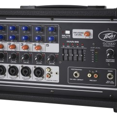 2 Channel And 4 Speakers Flat Pin Wiring Diagram Peavey Pv5300 Pro Audio Dj 5 Powered Amp Mixer