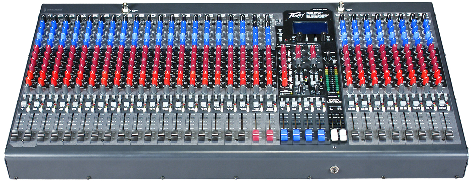 hight resolution of peavey 32fx 2 stereo channels mixer with mic line inputs and 6 aux 512520 new