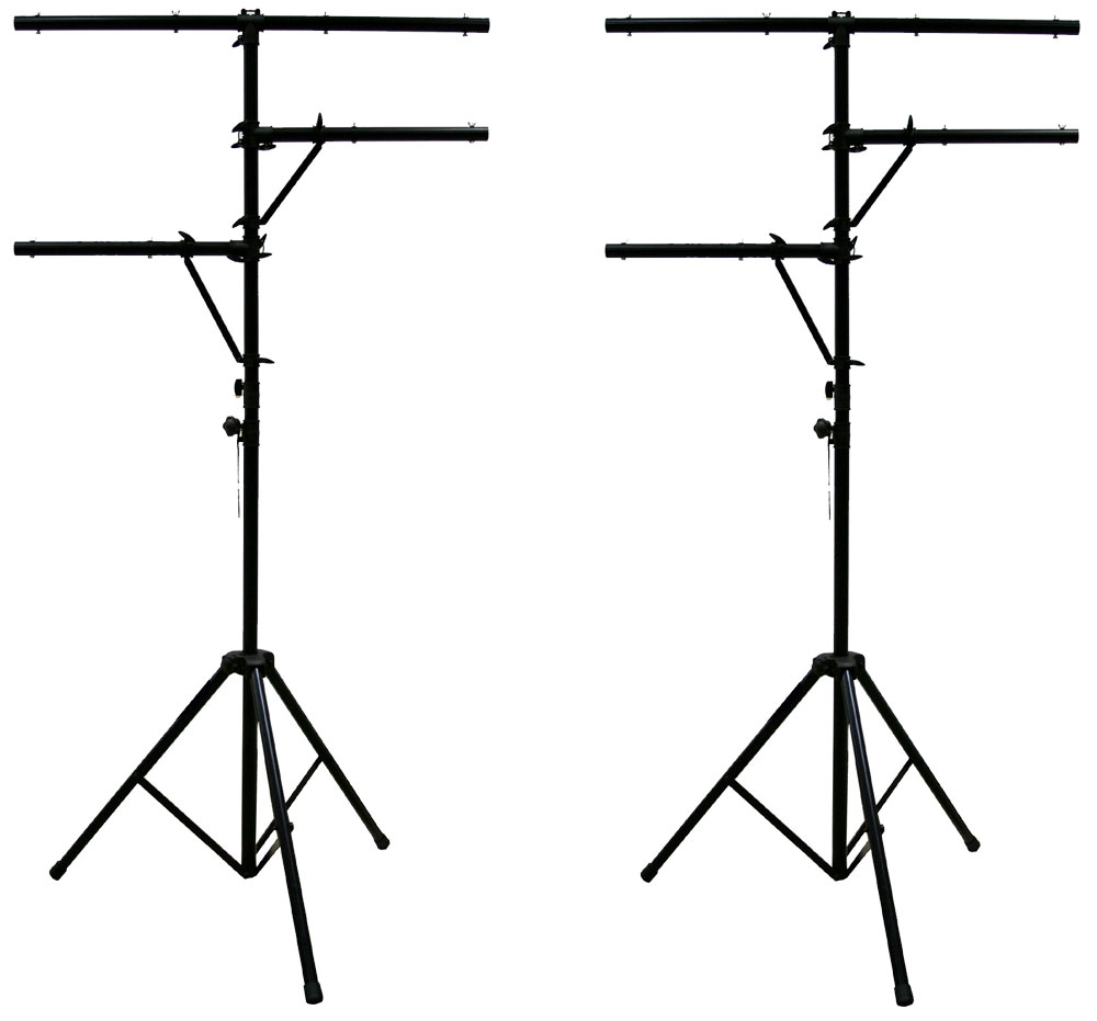(2) Pro Audio DJ Multi Arm 8 Bolt Lighting 12 Foot Tripod