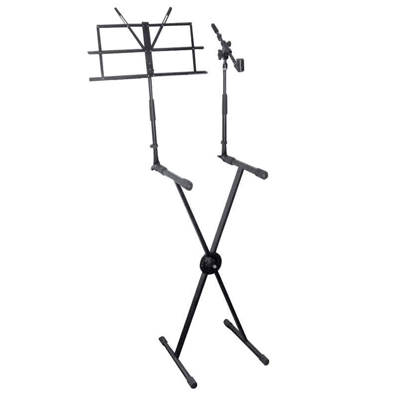 Pyle PKS30 Keyboard Stand with Music Stand and Microphone